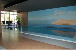 Pool and paining on the wall